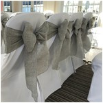 Grey Linen Sashes