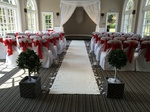 Ceremony with Carpet & Trees
